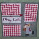 """Playball""-Premade Scrapbook Page 12x12"