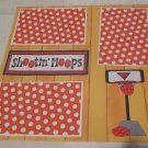 """Shooting Hoops Basketball a""-Premade Scrapbook Page 12x12"