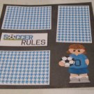 """Soccer Rules Girl""-Premade Scrapbook Page 12x12"