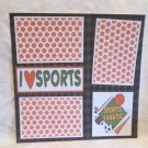 """Sports Fanatic""-Premade Scrapbook Page 12x12"