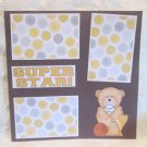 """Super Star""-Premade Scrapbook Page 12x12"