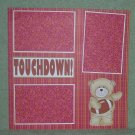 """Touchdown cs""-Premade Scrapbook Page 12x12"