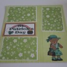 """""""St Patrick's Day Girl a""""-Premade Scrapbook Page 12x12"""