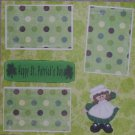 """Happy St Patrick's Day 1""-Premade Scrapbook Page 12x12"