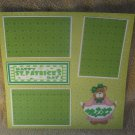 """Happy St Patrick's Day Girl""-Premade Scrapbook Page 12x12"