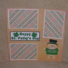 """Happy St Patty's Day 1""-Premade Scrapbook Page 12x12"