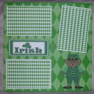 """Irish Boy""-Premade Scrapbook Page 12x12"