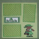 """Irish Girl""-Premade Scrapbook Page 12x12"