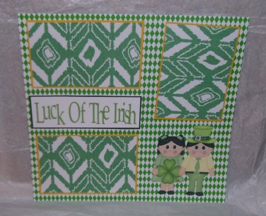 """Luck of The Irish""-Premade Scrapbook Page 12x12"