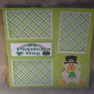 """St Patrick's Day Bear""-Premade Scrapbook Page 12x12"