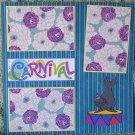 """Carnival a""-Premade Scrapbook Page 12x12"