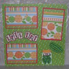 """Let's Eat 2""-Premade Scrapbook Page 12x12"