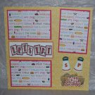 """Let's Eat S&P""-Premade Scrapbook Page 12x12"