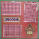 """Life's A Picnic nw a""-Premade Scrapbook Page 12x12"