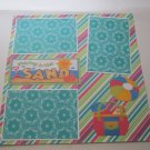 """""""Playing In The Sand Ball and Bag""""-Premade Scrapbook Page 12x12"""