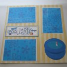 """Pool Party""-Premade Scrapbook Page 12x12"