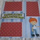 """Roller Skating Boy 1""-Premade Scrapbook Page 12x12"