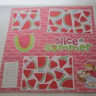 """Slice of Summer Girl mme""-Premade Scrapbook Page 12x12"