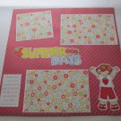 """Summer Days""-Premade Scrapbook Page 12x12"
