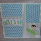 """Surf's Up Boy""-Premade Scrapbook Page 12x12"