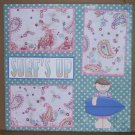 """Surf's Up""-Premade Scrapbook Page 12x12"