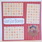 """""""Count Your Blessings""""-Premade Scrapbook Page 12x12"""