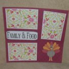 """Family and Food""-Premade Scrapbook Page 12x12"