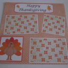 """Happy Thanksgiving b""-Premade Scrapbook Page 12x12"
