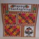 """Happy Thanksgiving Turkey blc""-Premade Scrapbook Page 12x12"