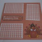 """Thanksgiving Dinner a""-Premade Scrapbook Page 12x12"