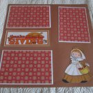"""Thanksgiving Girl al""-Premade Scrapbook Page 12x12"