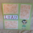 """Luau""-Premade Scrapbook Page 12x12"