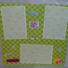 """Road Trip Car st""-Premade Scrapbook Page 12x12"