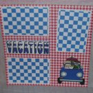 """Vacation Car 2""-Premade Scrapbook Page 12x12"