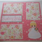 """Blushing Bride""-Premade Scrapbook Page 12x12"