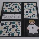 """Handsome Groom""-Premade Scrapbook Page 12x12"