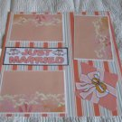 """Just Married""-Premade Scrapbook Page 12x12"