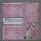 """""""The Proposal tc""""-Premade Scrapbook Page 12x12"""