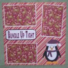 """Bundle Up Tight""-Premade Scrapbook Page 12x12"