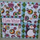 """I Love Winter 1""-Premade Scrapbook Page 12x12"