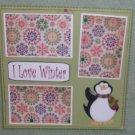 """I Love Winter 1a""-Premade Scrapbook Page 12x12"