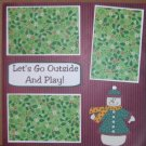 """Let's Go Outside and Play 1""-Premade Scrapbook Page 12x12"