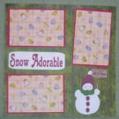 """Snow Adorable Red Hat""-Premade Scrapbook Page 12x12"