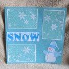"""Snow km""-Premade Scrapbook Page 12x12"