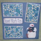 """Snow Much Fun""-Premade Scrapbook Page 12x12"