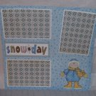 """Snow Day Boy nw""-Premade Scrapbook Page 12x12"