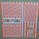 """Snow Day Girl nw""-Premade Scrapbook Page 12x12"