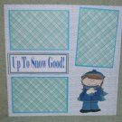 """Up To Snow Good Girl""-Premade Scrapbook Page 12x12"