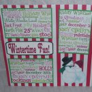 """Wintertime Fun Mr and Mrs Snowman-Premade Scrapbook Page 12x12"