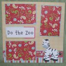 """""""Day At The Zoo 2nw""""-Premade Scrapbook Page 12x12"""